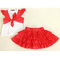 Комплект для девочки (футболка+юбка) FLASH кораловый