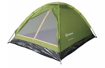 Двухместная туристическая палатка Kingcamp, зеленая, однослойная, каркас-стеклопластик Monodome2(KT3016) Green