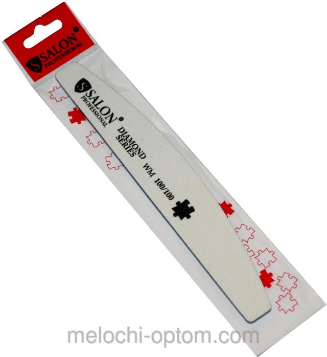 Пилки для нігтів SALON PROFESSIONAL (100/100) халф, сірі