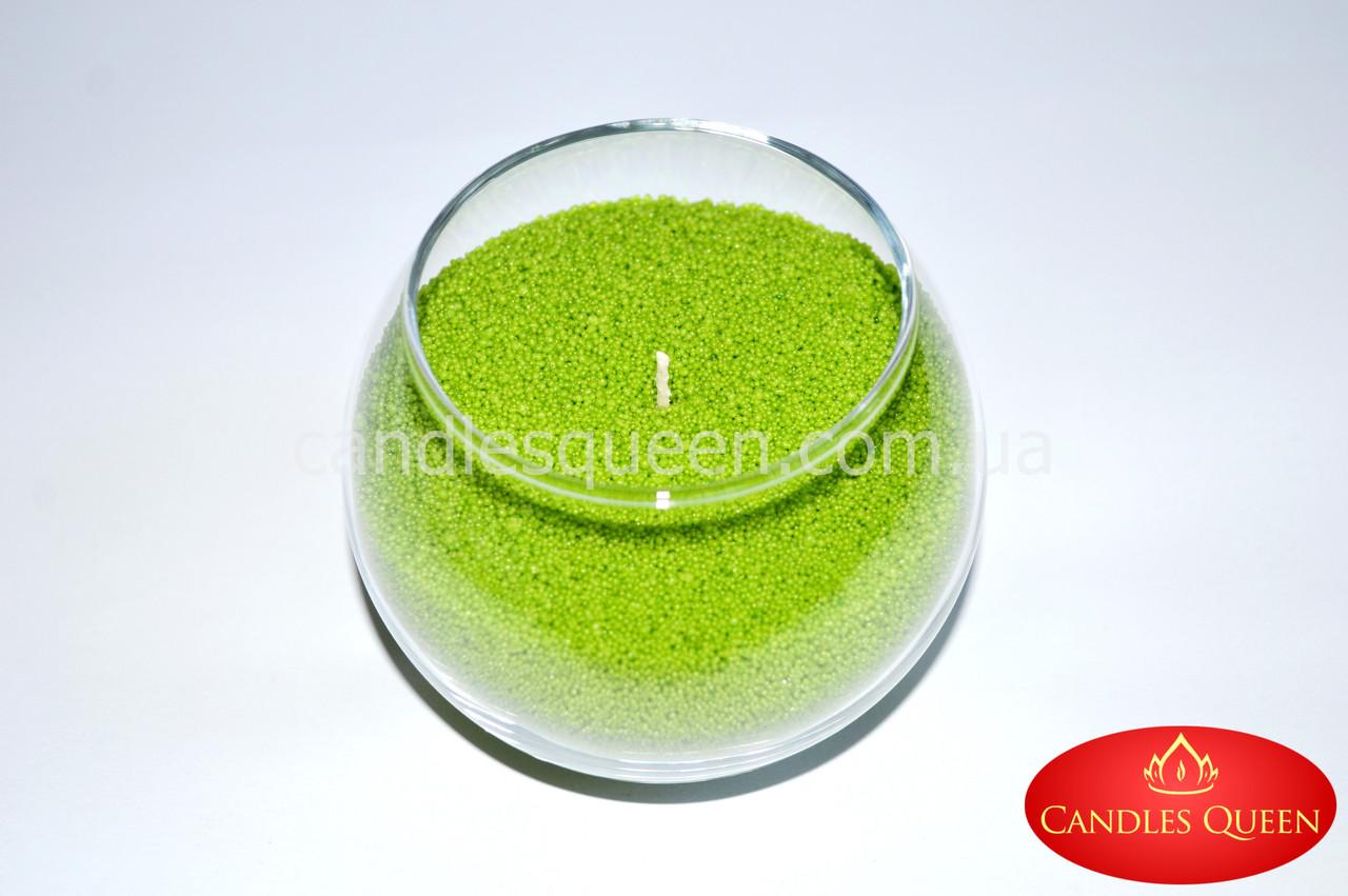 Стеарин ярко-зеленый 500 г. Для создания насыпной свечи и литых свечей