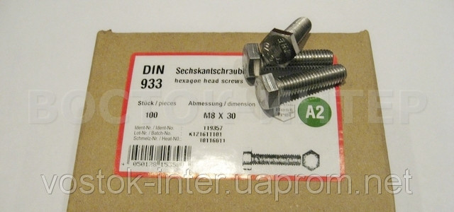 Stainless steel bolts A2-70