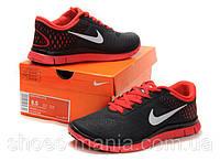 Женские кроссовки  Nike Free 4.0 black-red, фото 1