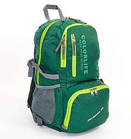 Рюкзак спортивный, школьный, для тренировок, городской Color Life Compact 30 л (green)