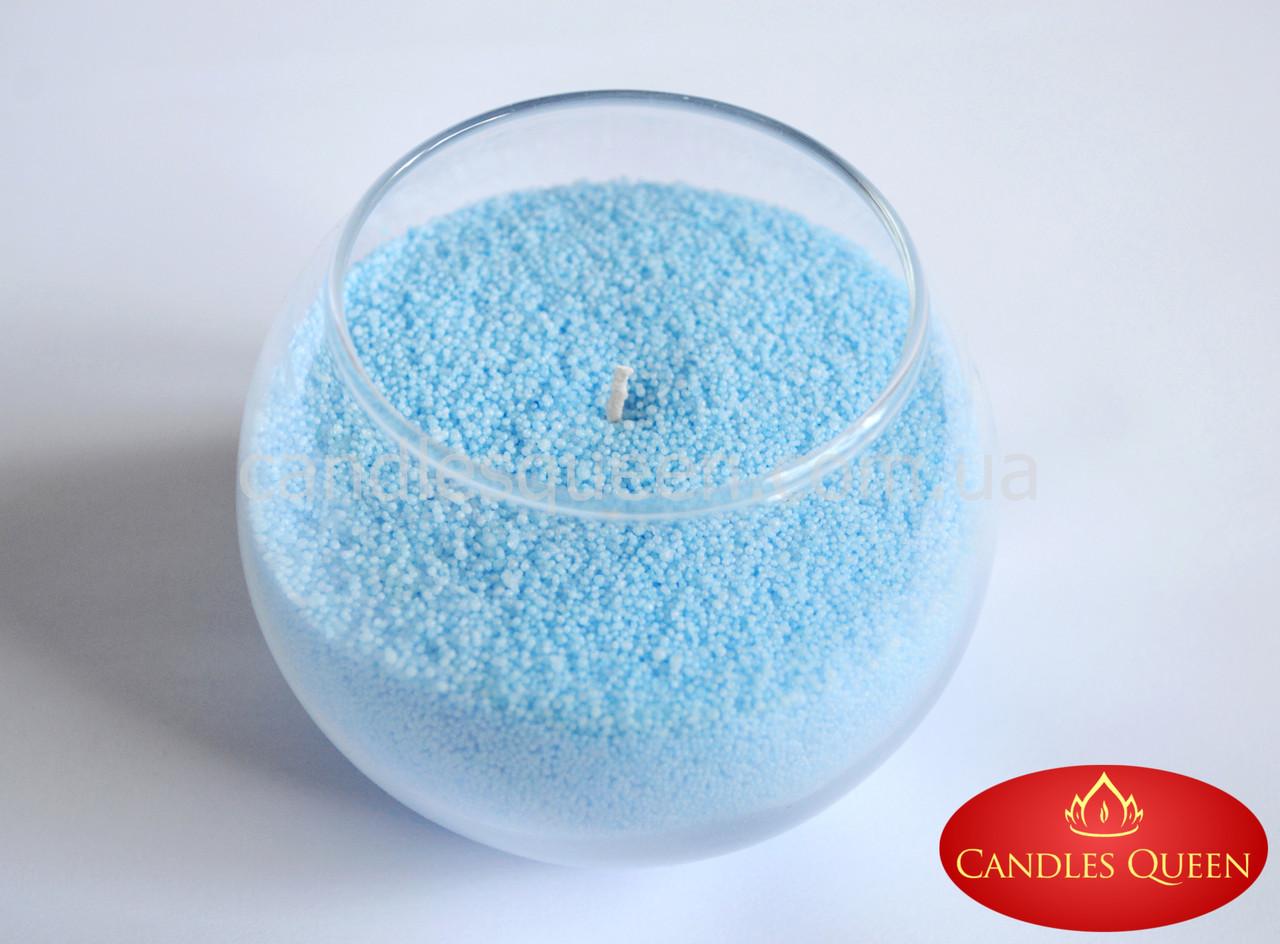 Стеарин цветной 1 кг светло- голубой. Для насыпных свечей и литых