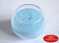 Стеарин цветной 1 кг светло- голубой. Для насыпных свечей и литых, фото 1