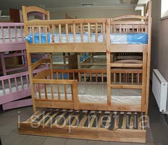 Двухъярусная кровать Карина-Люкс Трио (дополнительное выкатное спальное место)