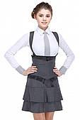 Сарафан шкільний для дівчинки сірий
