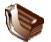Заглушка наружная водосточной системы Хантер (Hunter) Регент 125 мм коричневый