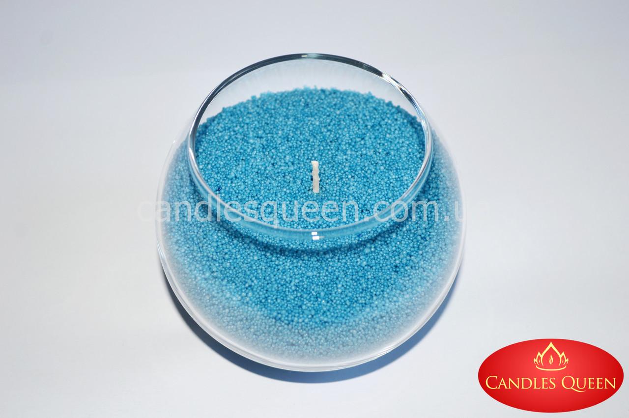 Стеарин 500 г Цвет Голубая бирюза. Для создания насыпных свечей и литых
