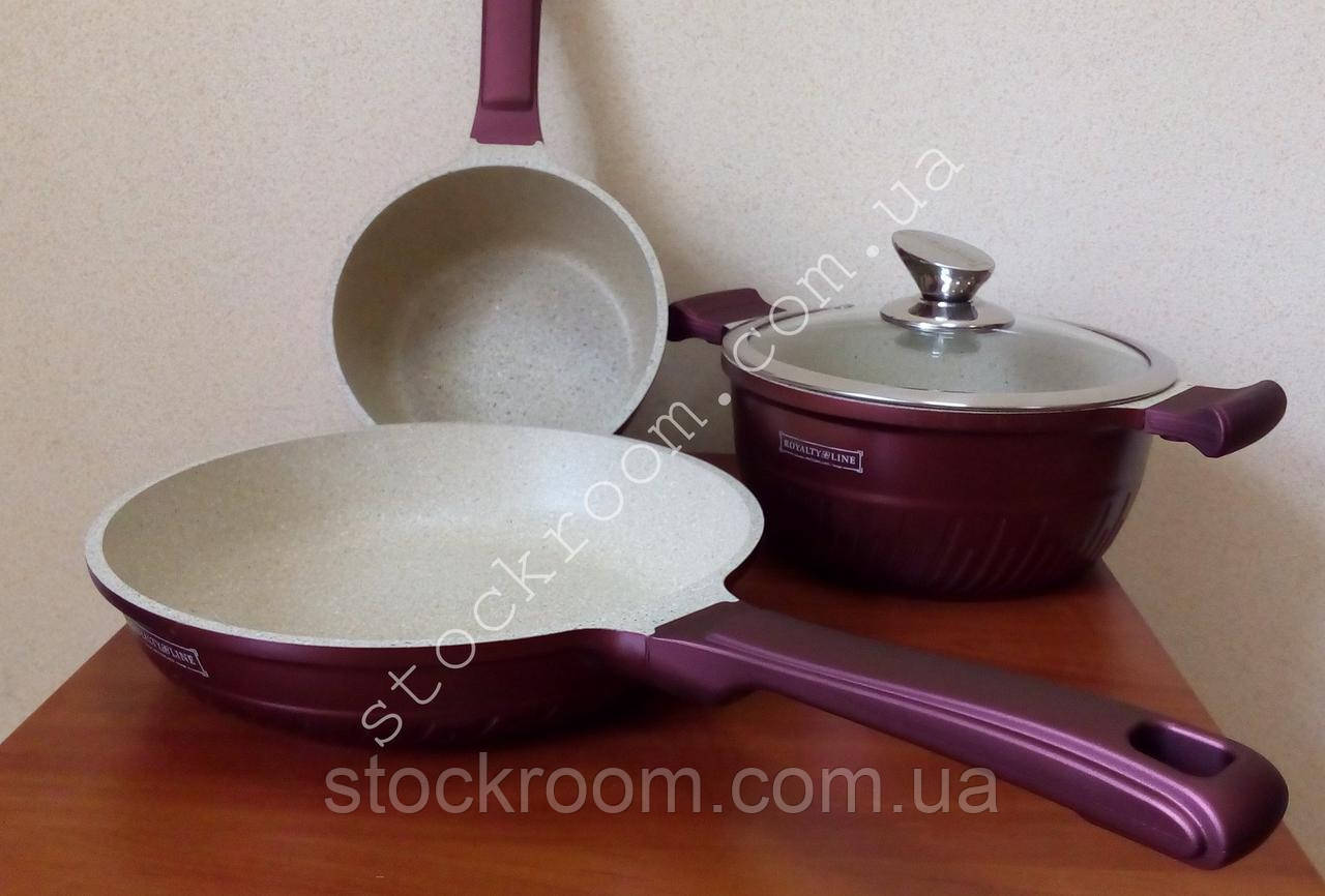 Набор посуды Royalty Line LS-1010 M с мраморным покрытием
