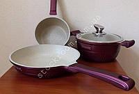 Набор посуды Royalty Line LS-1010 M с мраморным покрытием , фото 1