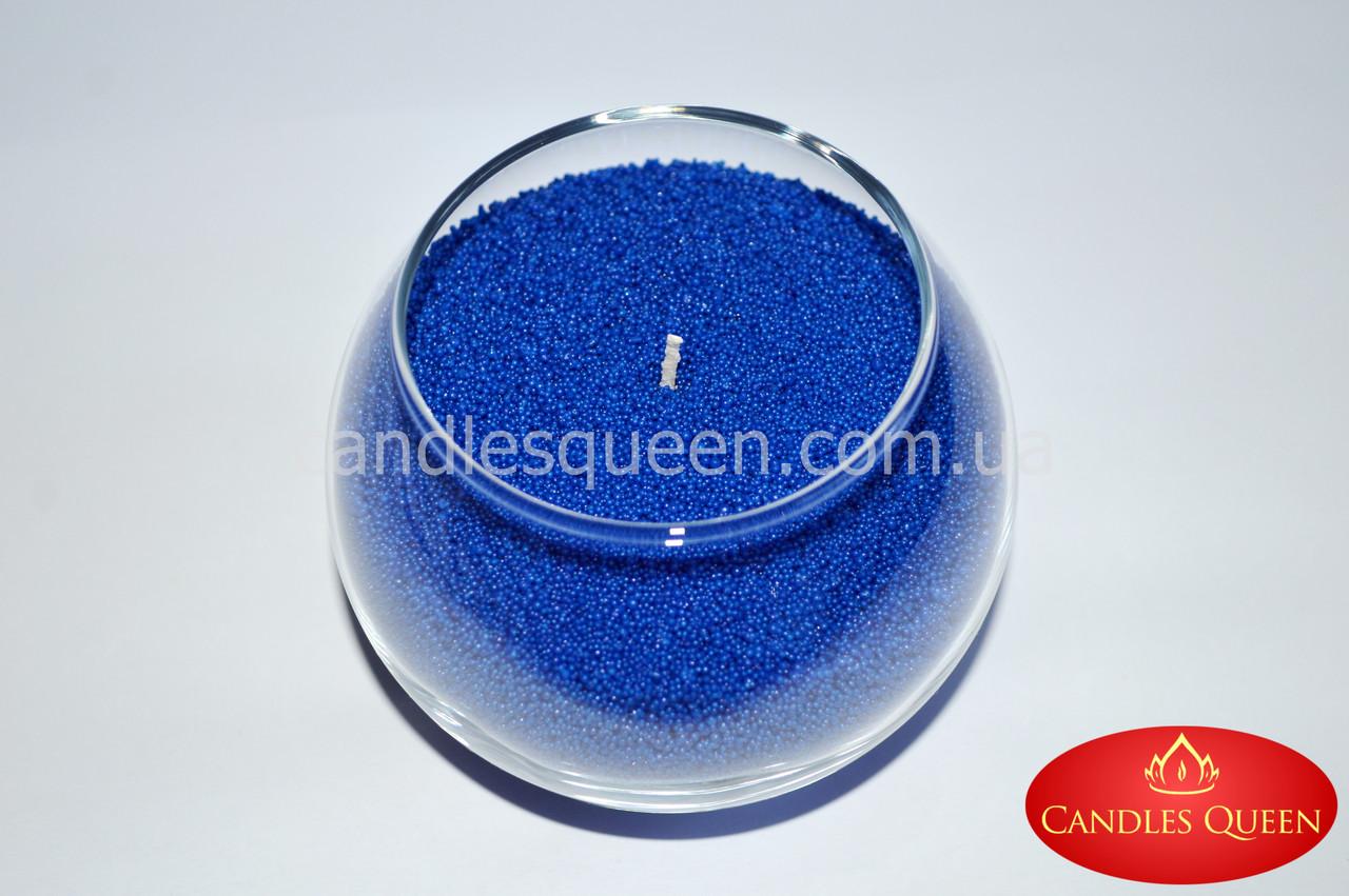 Синий стеарин в гранулах. Для насыпных свечей и литых