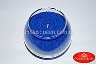 Насыпная свеча 1 кг + фитиль синий насыпной воск, фото 1