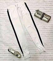Женские шелковые спортивные штаны (белый) Love KAN № 0111