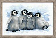 Набор для вышивания крестом Риолис Забавные пингвины 1323