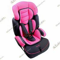 Автокресло детское, универсальное, розовое (от 9-36 кг)