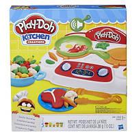 Play-Doh Kitchen Creations Sizzlin' Stovetop Кухонная плита (кухонна плита зі звуковими ефектами)