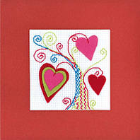 Набор для вышивания крестом Риолис Открытка Валентинов день 1420