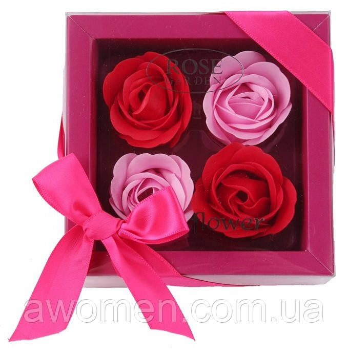 Мыло в форме бутона розы (подарочный набор)