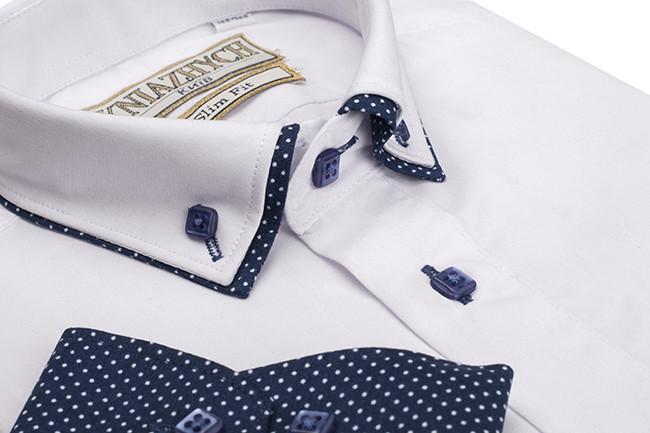 fb9fb5ea905 Шикарная рубашка для мальчика с двойным воротничком на рост 116-170 ...