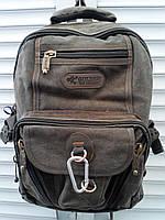 ПОРТФЕЛЬ (Рюкзак) GOLDBE-БРЕЗЕНТОВЫЙ.Размер-43*28*22 см