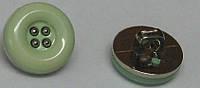 Пуговица с металлизированной  подложкой на ножке диаметр 15 мм