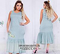 Легкое платье в горошек в расцветках БАТ 302 (738)
