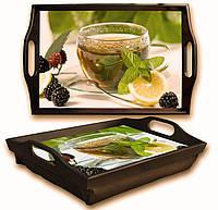 """Поднос на подушке """"СН"""" Зеленый чай"""