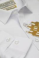 """Біла шкільна сорочка для хлопчика """"Княжич"""" 116-170см"""