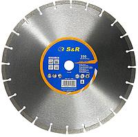 Алмазный сегментный круг S&R Segment 350x25,4 (неарм. бетон)