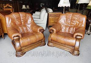 Комплект шкіряних крісел 1+1