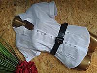 Блузка рубашка+пояс 1288 белый 44-48р Польша