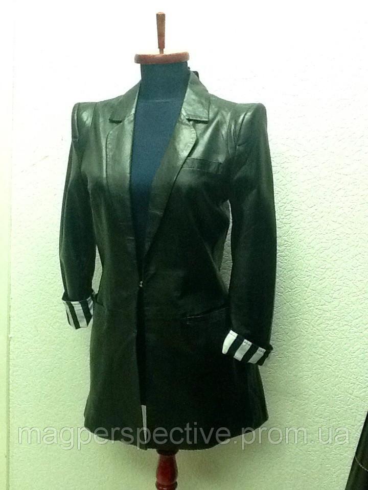 Куртка-пиджак женский кожанный Dolce&Gabbana