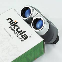 Бинокль 10x22 Nikula компактный серый