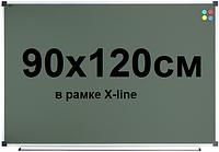 Доска для мела магнитная 90х120см в рамке X-line