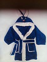 """Детский махровый халат """"ЗАЙКА"""" с капюшоном. рост. 86-116.три цвета"""