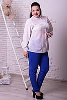 Женская шифоновая рубашка в расцветках (48+р) r-t101519