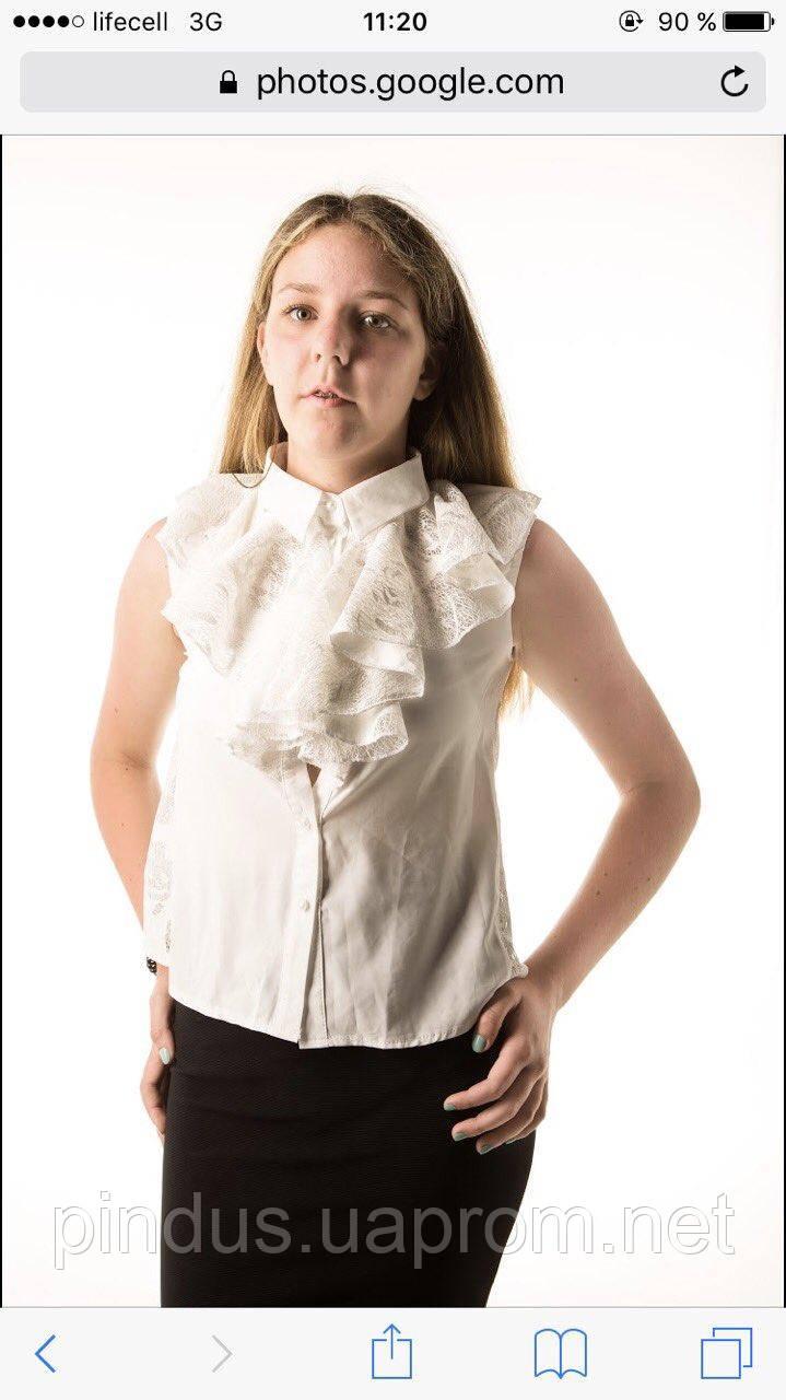 299cc4e142293 Красивая школьная блузка для девочки, 116 - 164. Детская и подростковая  нарядная блуза,