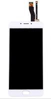 Дисплей (экран) для Meizu M5 Note мейзу с тачскрином в сборе, цвет белый