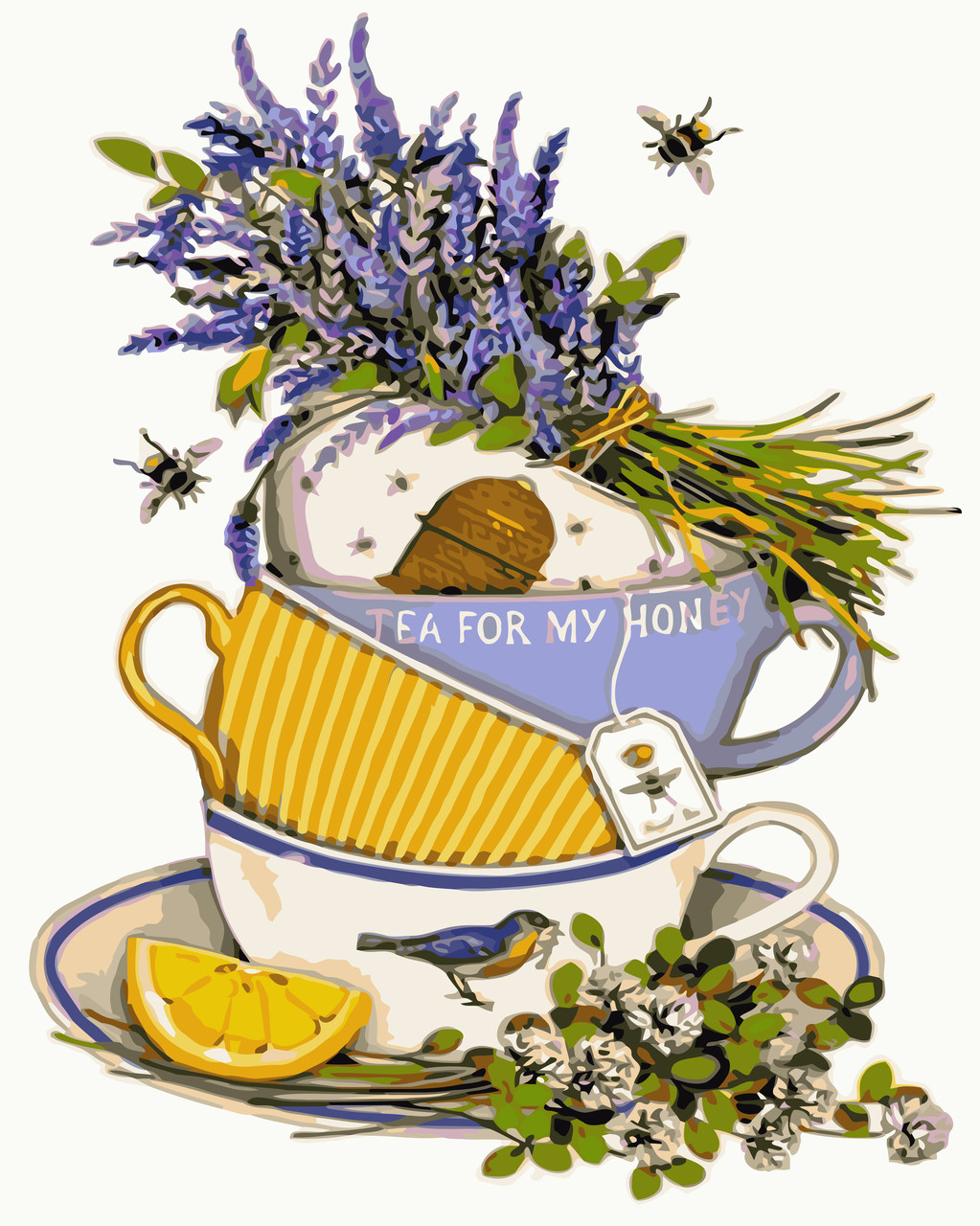 Картина для рисования Чай с лавандой и лимоном (KH5502) Идейка 40 х 50 см