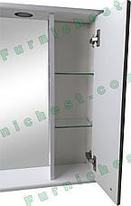 Зеркало для ванной комнаты Аэрография 60-01 правое Скрипулянт + листок, фото 2