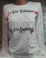 Батник 3D коттоновый женский New Fashion