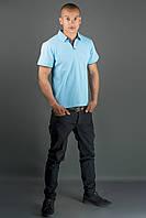 Мужская футболка Поло (голубой)
