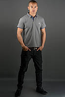 Мужская футболка Поло (серый)