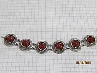 СЕРДОЛИКОВЫЙ браслет в серебре