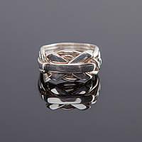 Мужское кольцо головоломка из серебра от Wickerring