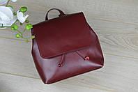 Бордовый кожаный рюкзак из Италии