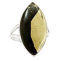 Пирит, серебро 925, кольцо, 539КП