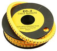 Маркеры кабельные (бирки, маркировки для кабеля) EC-1 1000шт