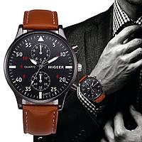 """Мужские наручные часы """"Migeer"""" коричневые"""